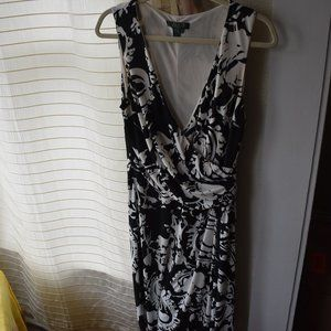 Ralph Lauren Black and White Print Dress
